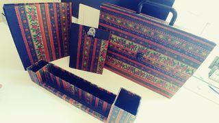 Conjunto escritorio 4 piezas vintage buen estado.