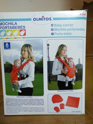 Mochila portabebés roja de Olmitos