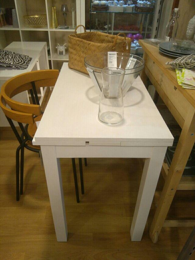 Mesa extensible cocina ikea de segunda mano por 69 en talavera de la reina en wallapop - Mesa exterior ikea ...