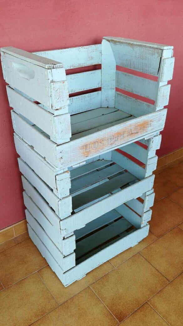 Mueble cajas de fruta de madera antiguas de segunda mano por 30 en barcelona en wallapop - Cajas de madera barcelona ...