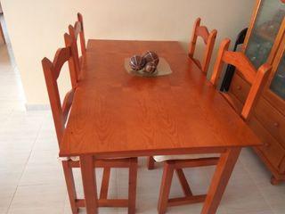Conjunto muebles salón Pino