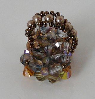 Bague en perles de verre Taille 52