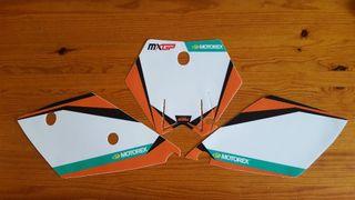 Adhesivos portanúmeros KTM
