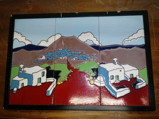 Cuadro mosaico baldosas