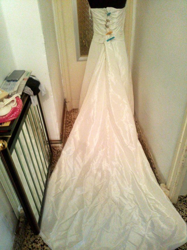vestido de novia,talla l grande o xl pequeña de segunda mano por 42
