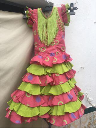 Traje de flamenca de niña talla 2-4 años