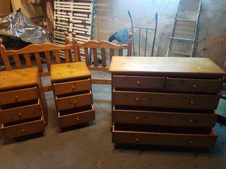 Dormitorio madera maciza pino miel