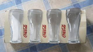 Juego 4 vasos Coca Cola