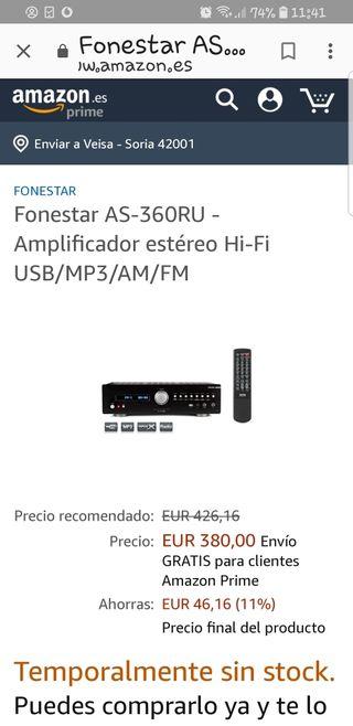amplificador audio radio fonestar as360ru