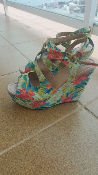 Sandalias cuña.Zapatos mujer talla 36