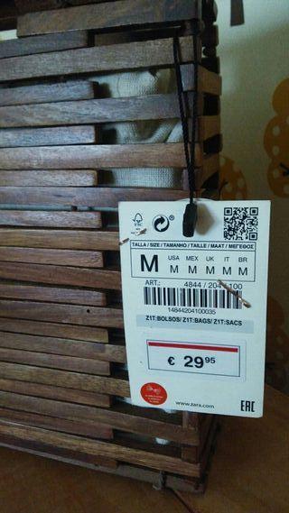 Bolso madera Zara