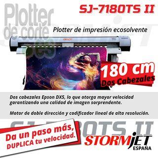 Impresora ecosolvente 180cm 2 cabezales