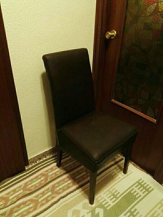 sillas de comedor de cuero