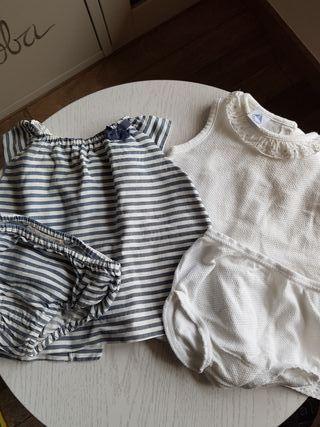 2 conjuntos niña talla 6 meses (zara y babidu)