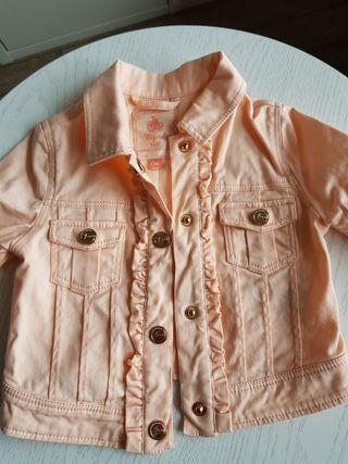 chaqueta vaquera niña talla 6 mese color coral