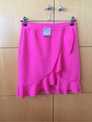Falda volantes rosa NUEVA