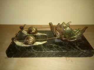 Carruaje hoja tirada por caracoles (LATÓN)