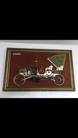 Cuadro antiguo de coche