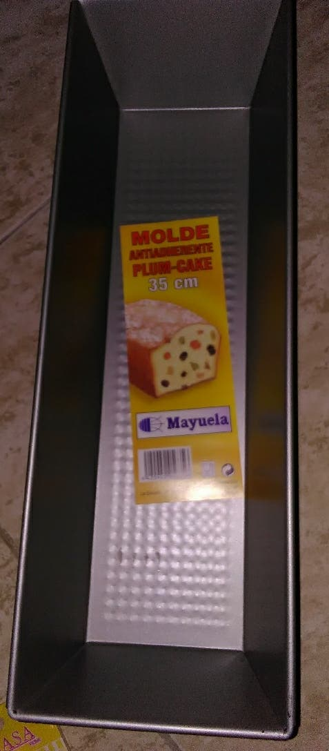 Molde plum cake rectangular 35 cm extra grande nue