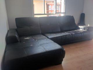 Sofá chaise longue polipiel