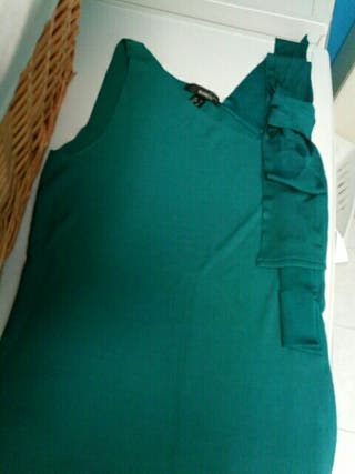 camisa tirantes color verde botella