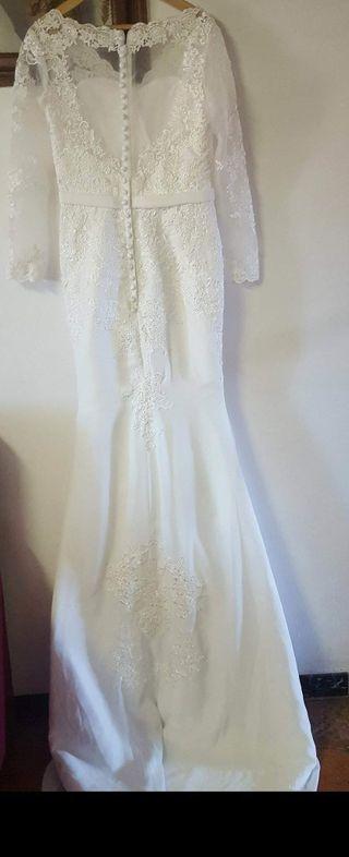 vestido de novia largos de segunda mano en barcelona en wallapop