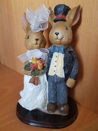 Muñecos tarta para bodas Conejitos