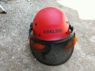 casco proteccion poda