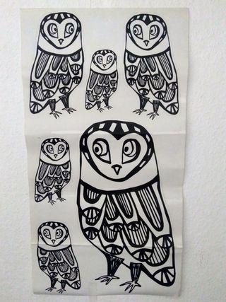 Pegatinas de pared búhos