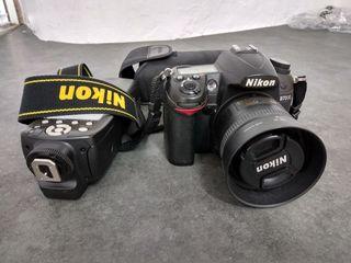 nikon D7000 + flash+ objetivo 35mm