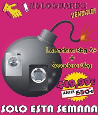 OFERTA LAVADORA 8KG + SECADORA 9KG