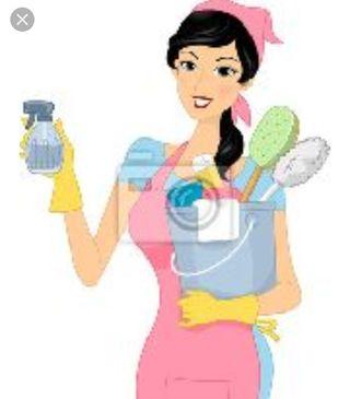 limpiadora de hogar. Cuidar niños pequeños.