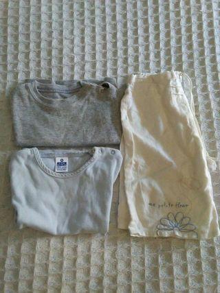 2 camisetas y pantalón