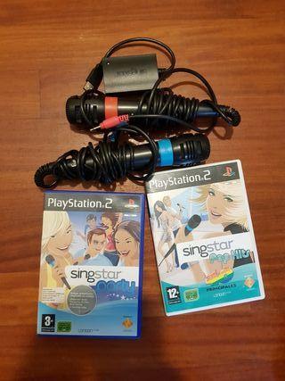 Microfonos y Juegos SingStar PlayStation2