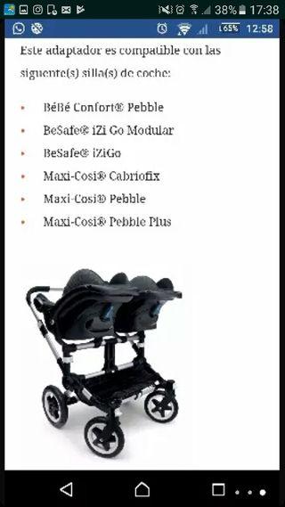 adaptador maxicosis para bugaboo gemelar