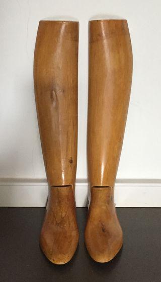 Embauchoirs de bottes en bois sur mesure Vintage