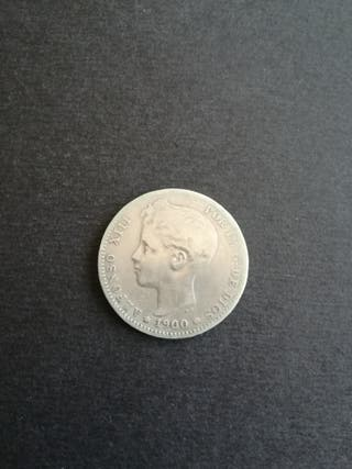 1 peseta 1900 Alfonso XIII (plata)