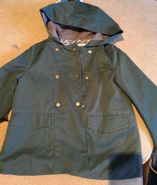 Abrigo verde nina zara