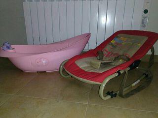 Hamaca y bañera bebe