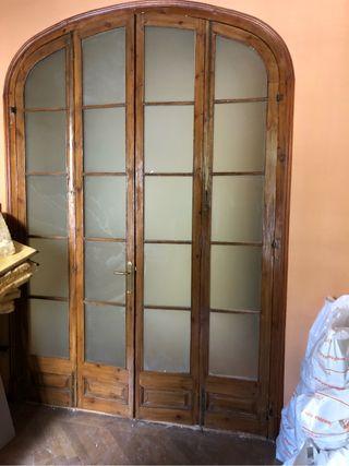 Puertas de madera antiguas de segunda mano en la provincia - Puertas madera barcelona ...
