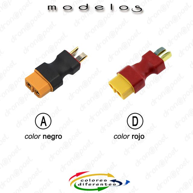 Conector XT60 Female to T-Dean Male Plug Quadcopte