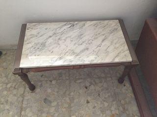 Mesa marmol y madera