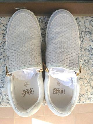 zapatillas mujer piel
