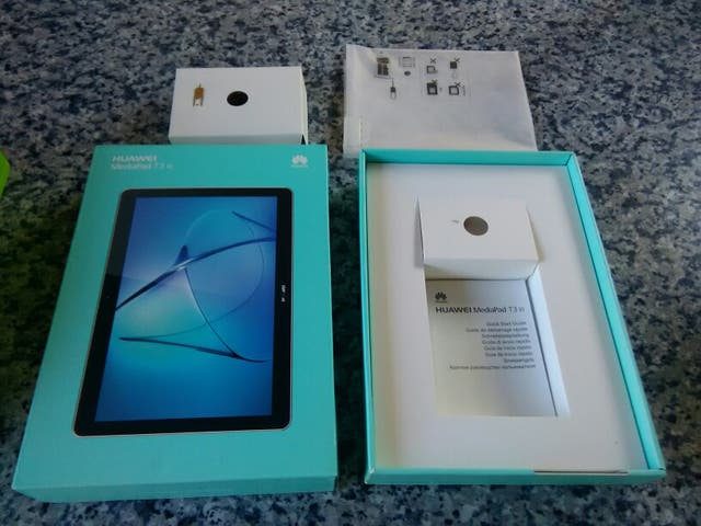 caja vacía, Tablet Huawei MediaPad T3