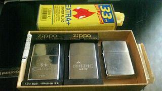 zippo pack 3 unidades y botella cargador