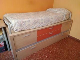 Cama nido con cama adicional y cajoneras grandes