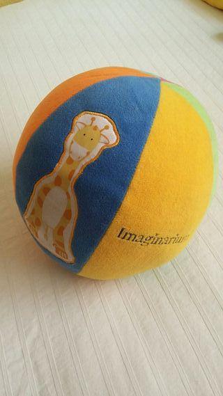 pelota imaginarium de peluche con cascabel