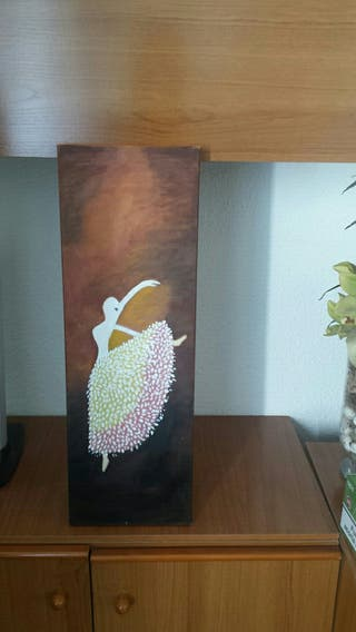 pintura al oleo bailarina