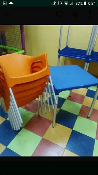 Mesas de plástico