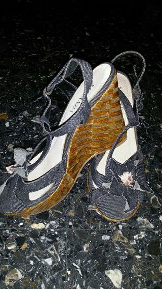 Sandalias Cuñas Vaqueras Milanda
